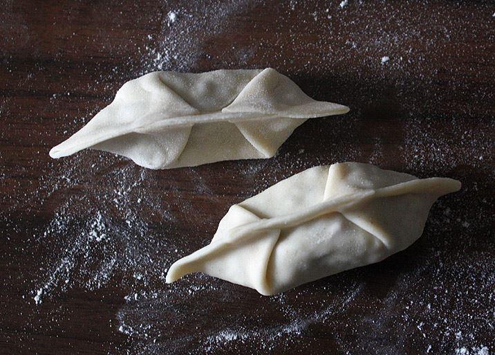 Dumplings falten