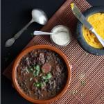 Feijoada brasileira – Schwarze-Bohnen Eintopf
