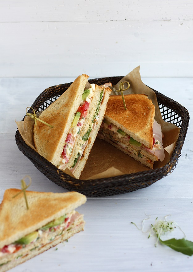 Avocado Clubsandwich