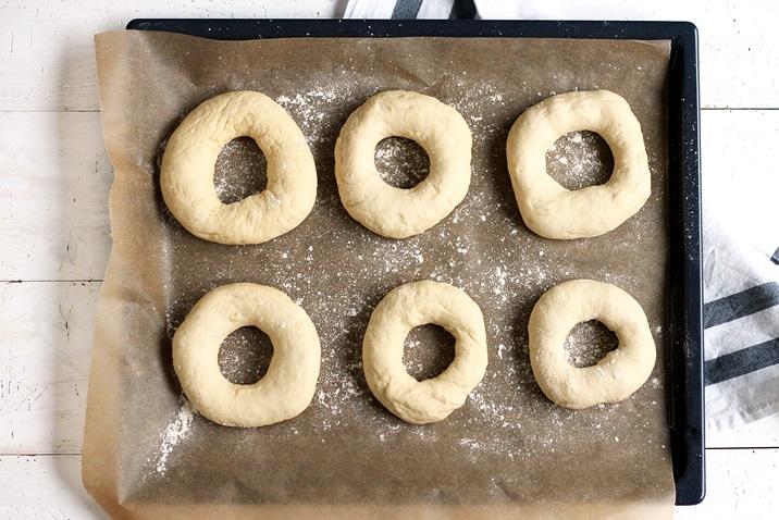 Bagels formen einfache Methode