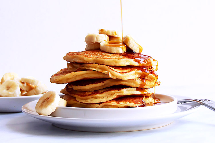 Banana Pancakes Rezept ohne Zucker