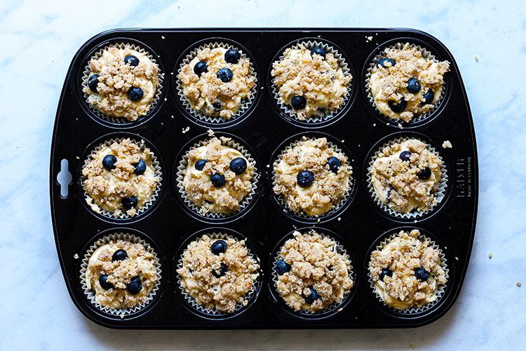 Blueberry Muffins mit Streuseln Rezept