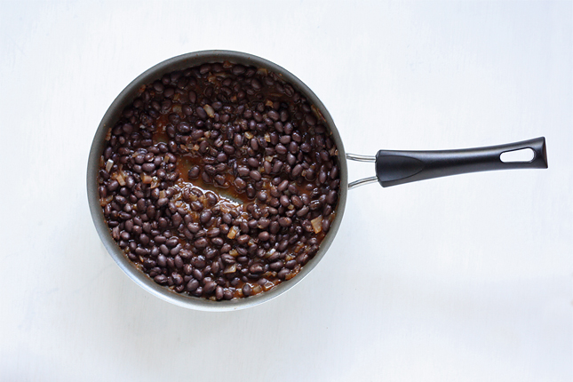 Bohnensalsa