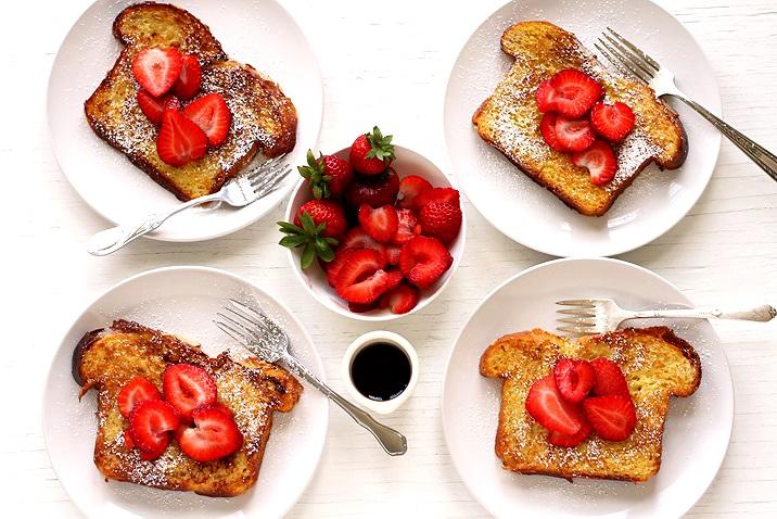 Brioche French Toast mit Erdbeeren Rezept