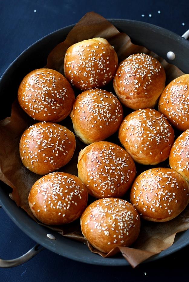 Brioche Slider Buns Burger Rezept