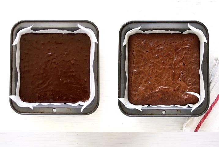 Die Masse in die Form füllen und 25-30 Minuten bei 175 °C backen.