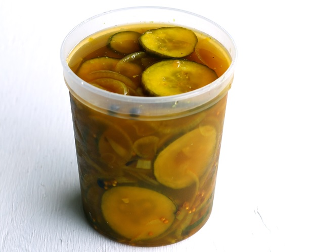 Burgergurken süss-sauer (Bread and Butter Pickles)