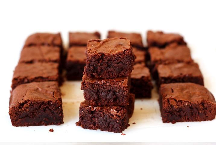 Chewy fudgy Brownies Rezept USA