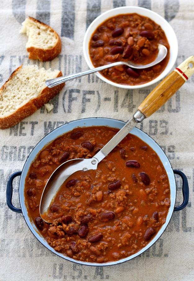 Chili con Carne mit Bohnen Rezept