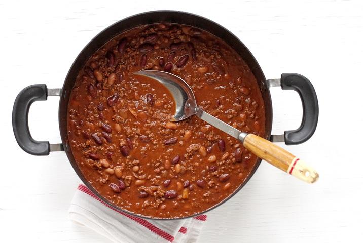 Rezept für Chili con Carne mit Bohnen und Bier