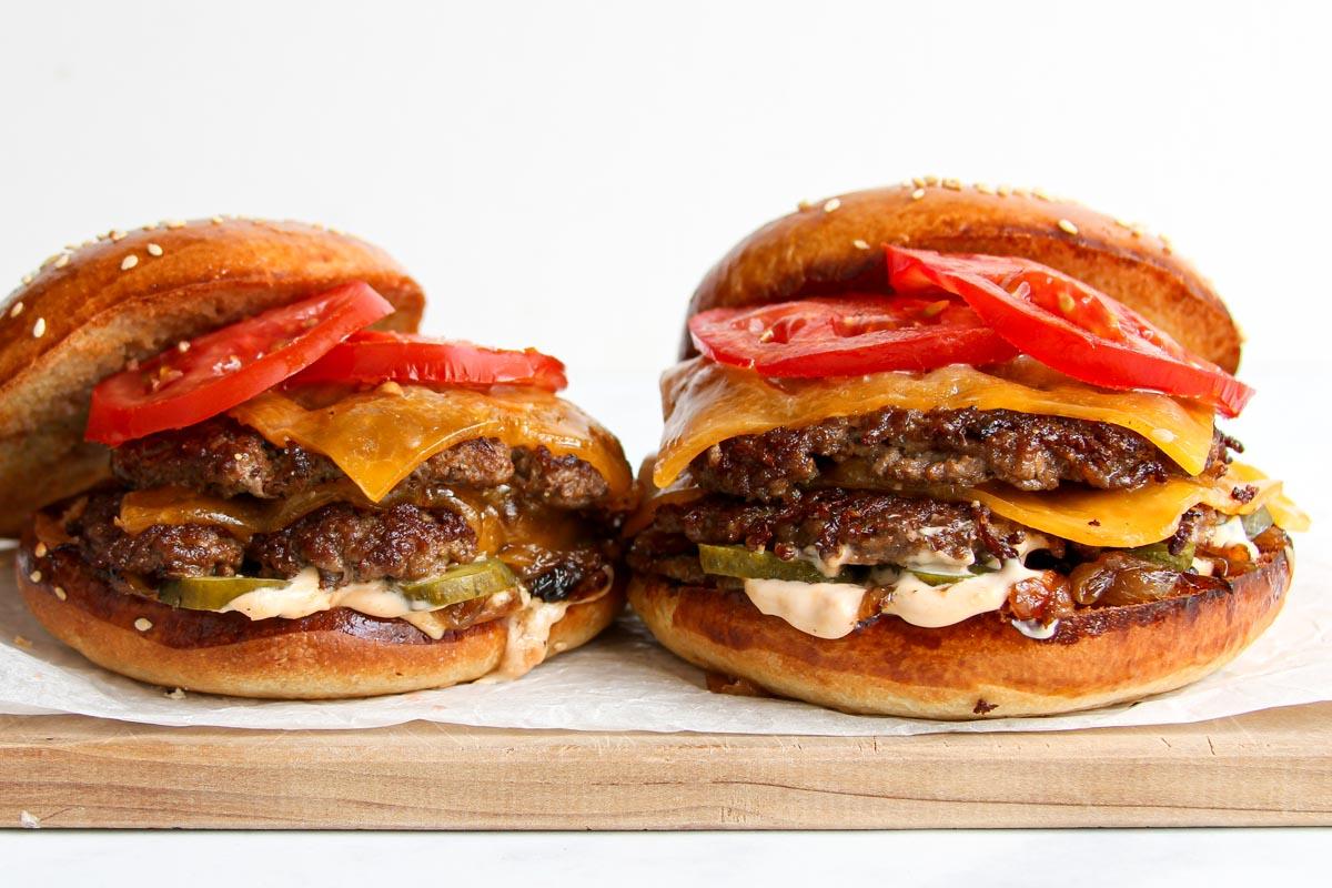 Double Smash Burger Rezept