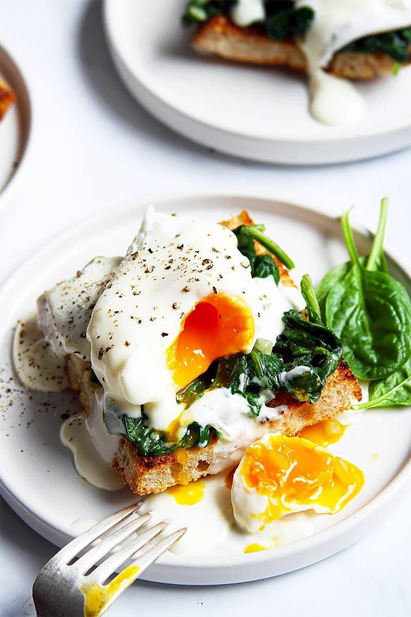 Eggs Florentine Rezept Spinat