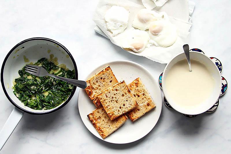 Eggs Florentine einfaches Rezept