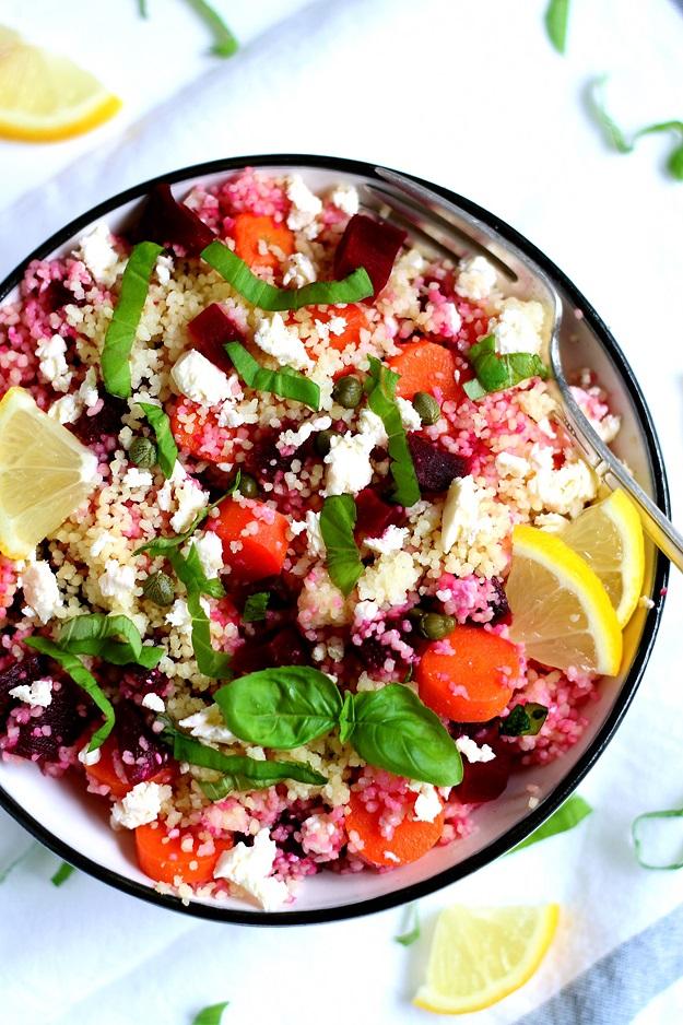 Einfacher Couscous Salat mit Karotten und Rüben | tasteoftravel.at