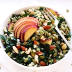 Grain Salad with Kale and Plums
