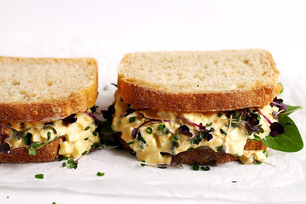 Einfaches Egg Sandwich Rezept