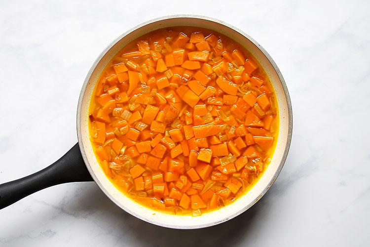 Einfaches Rezept Kürbiscremesuppe