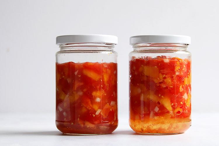 Einfaches Rezept fermentierte Salsa haltbar