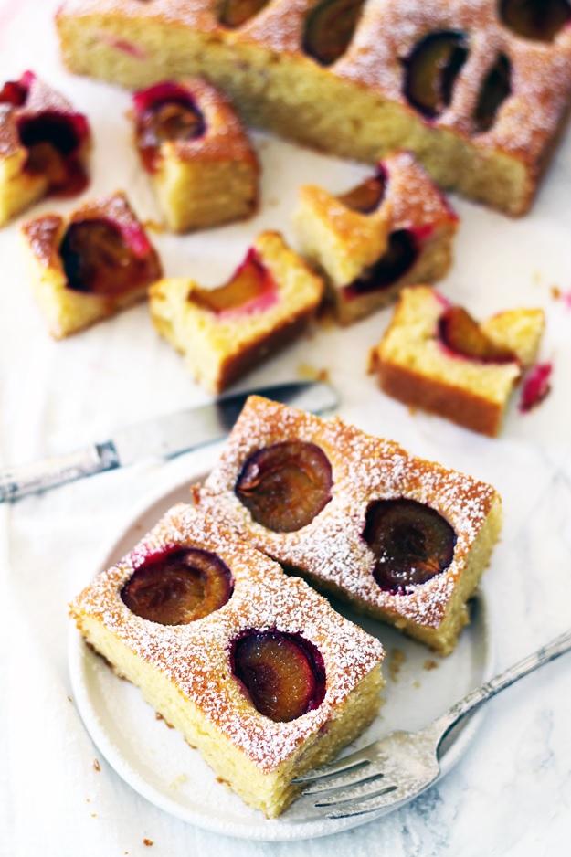 Einfaches Rezept luftiger Zwetschgen Kuchen