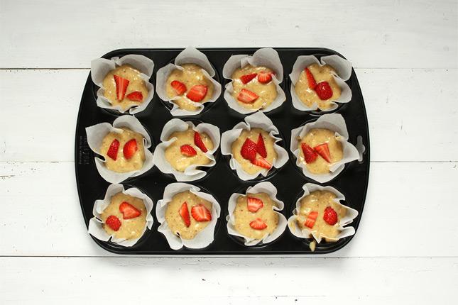 Erdbeer Birnen Muffins Rezept