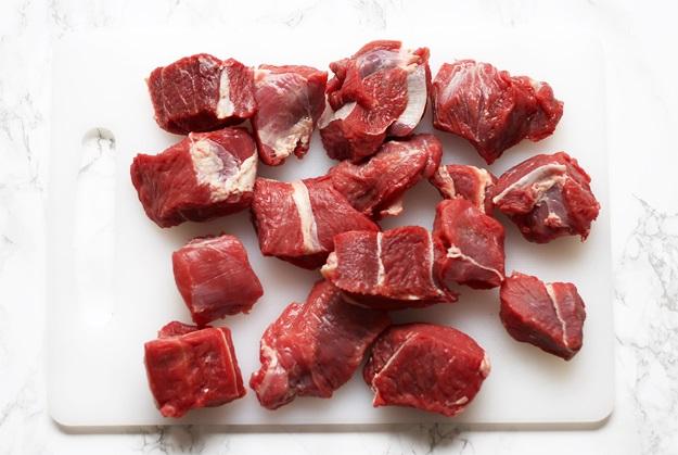 Fleisch für Rindsgulasch