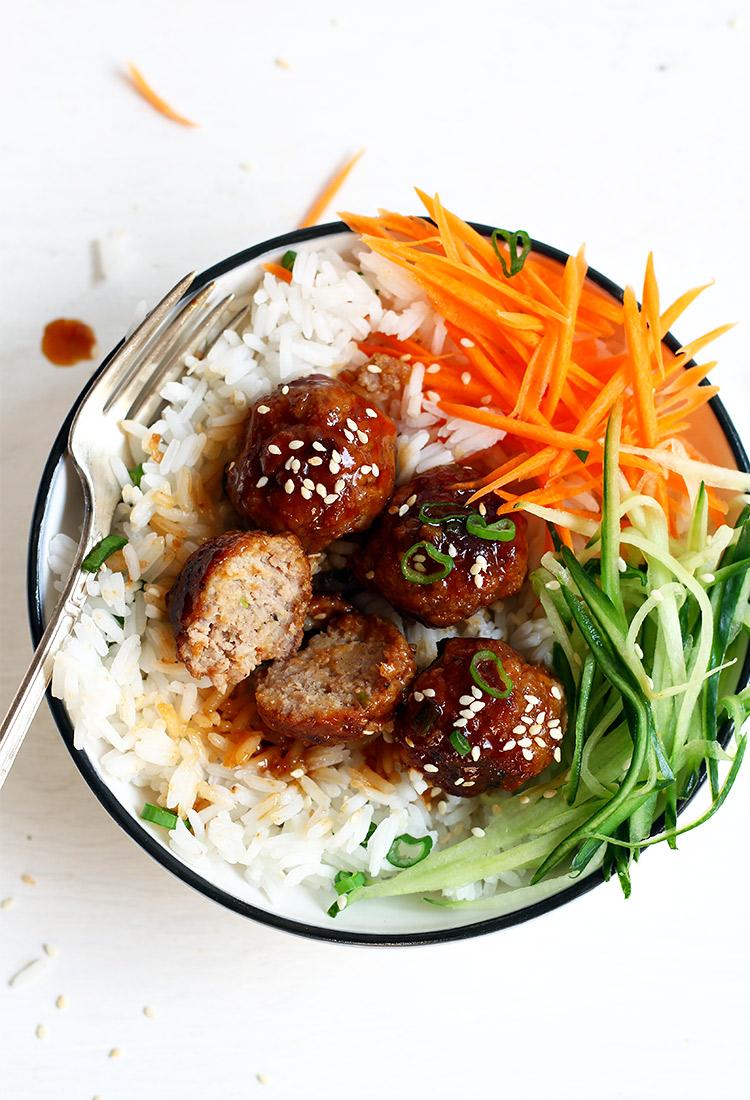 Fleischbällchen mit Teriyaki Sauce Rezept