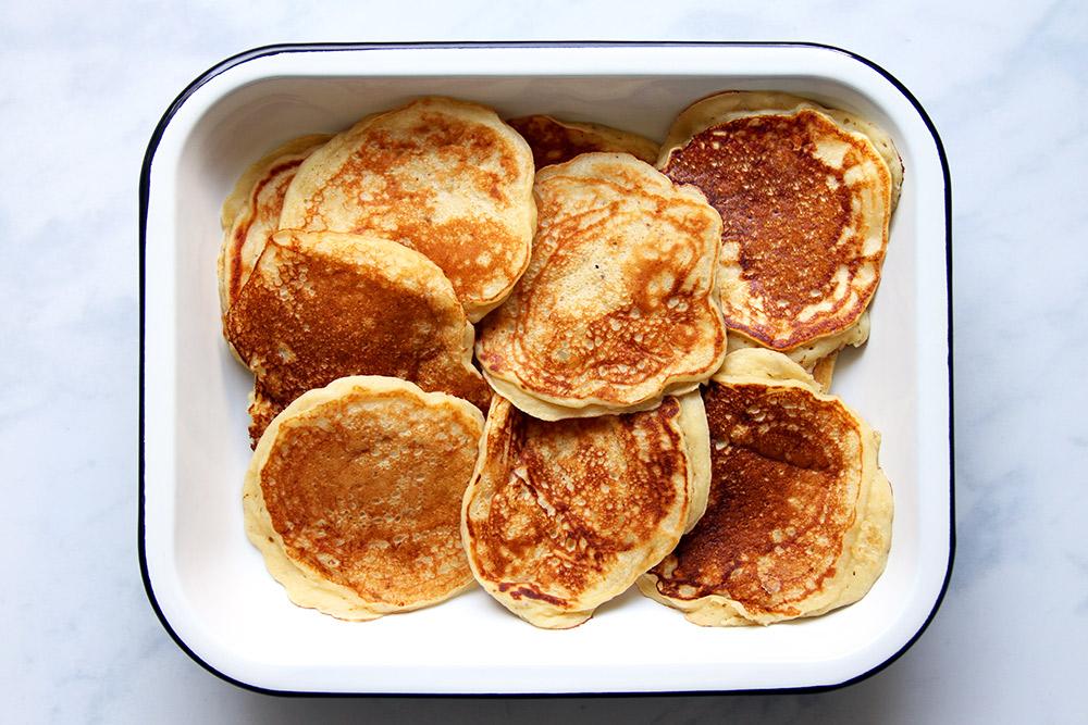 Fluffige Banana Pancakes Rezept