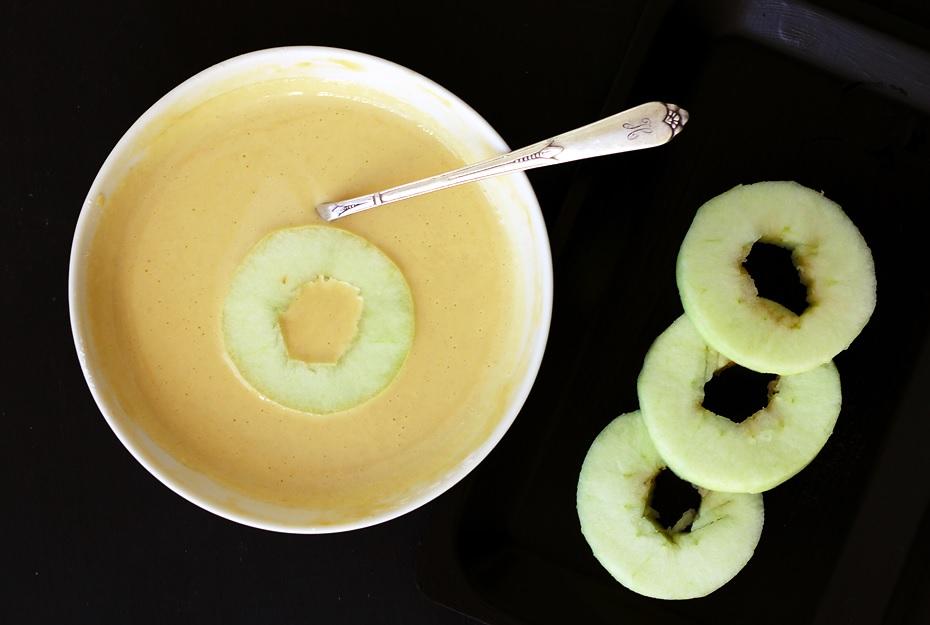 Gebackene Apfelscheiben Apfelringe Rezept