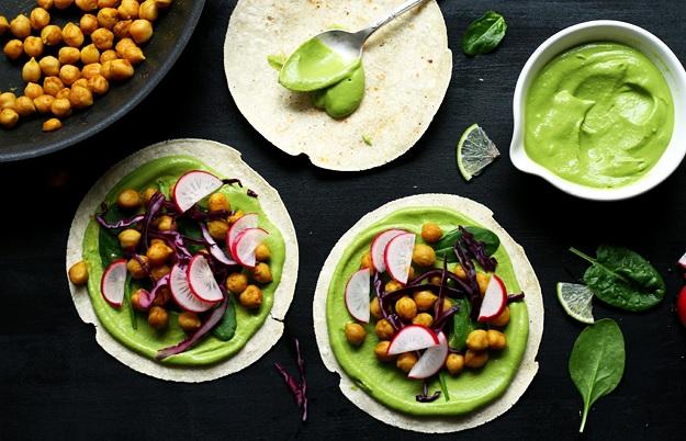 Grüne Veggie Tacos Rezept