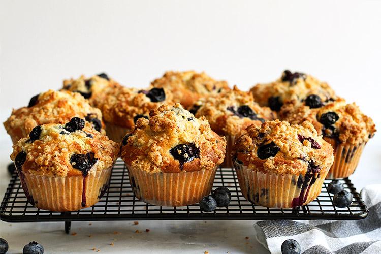 Hohe Blueberry Muffins Rezept