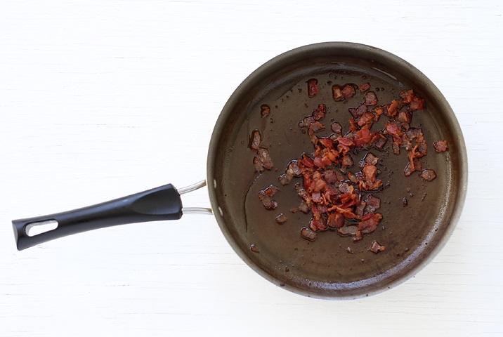 Käse Dip mit Speck - Schritt für Schritt Rezept
