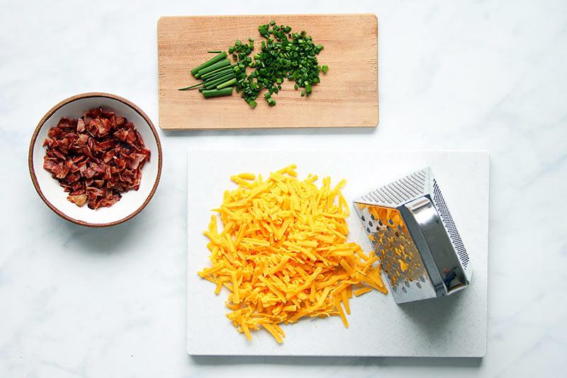 Käse und Speck für Scones Rezept