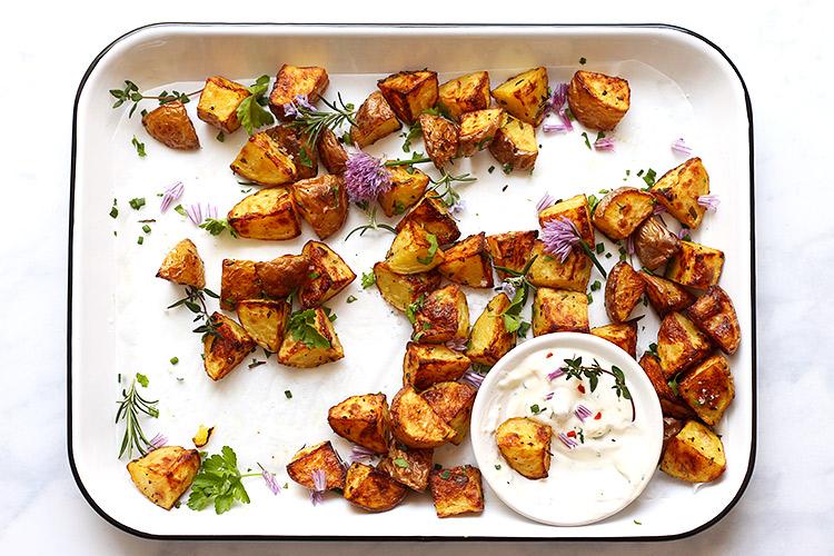 Knusprige Bratkartoffeln aus dem Backofen Rezept