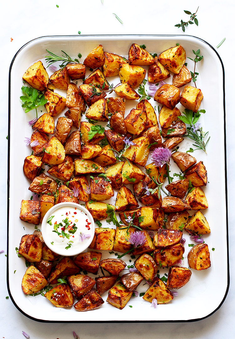 Knusprige Bratkartoffeln aus dem Ofen Rezept