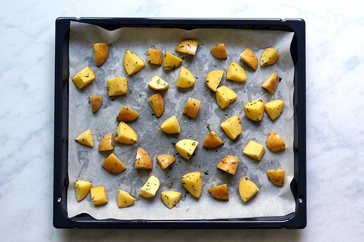 Knusprige Bratkartoffeln im Ofen Rezept
