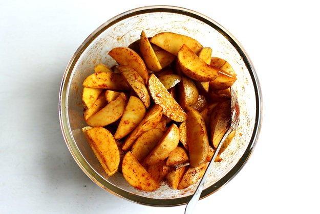 Knusprige Potato Wedges Marinade Rezept