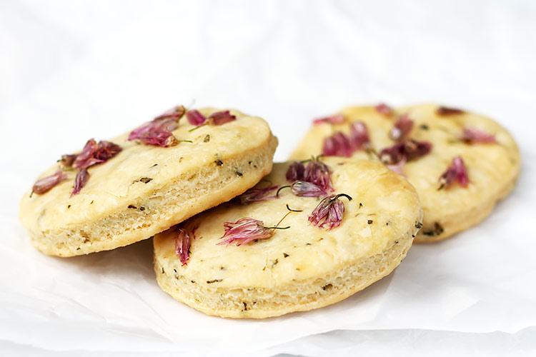 Kräuter Blüten Kekse Cracker Rezept