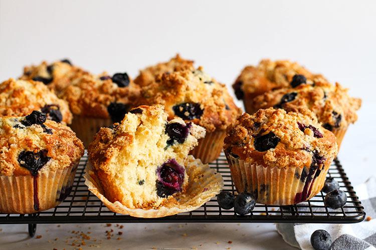 Luftige Blueberry Muffins Rezept
