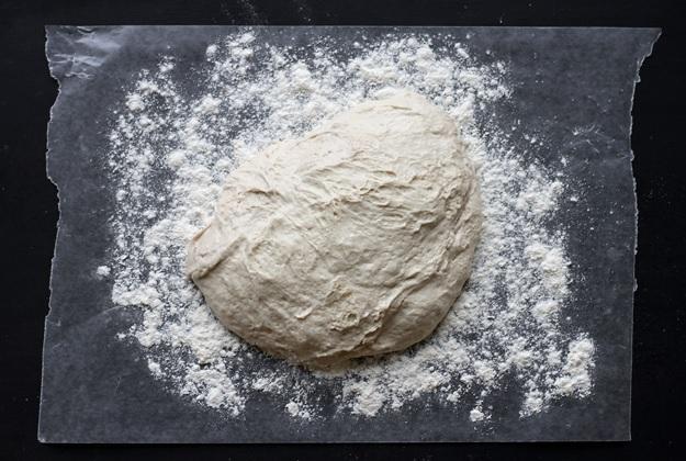 No knead Bread Teig nach Gare