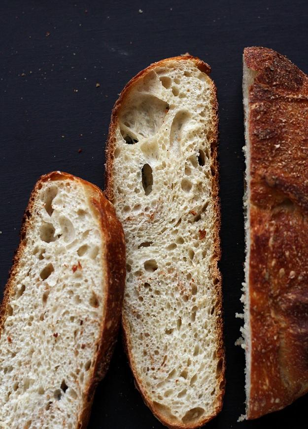 No-knead Brot mit Sauerteig