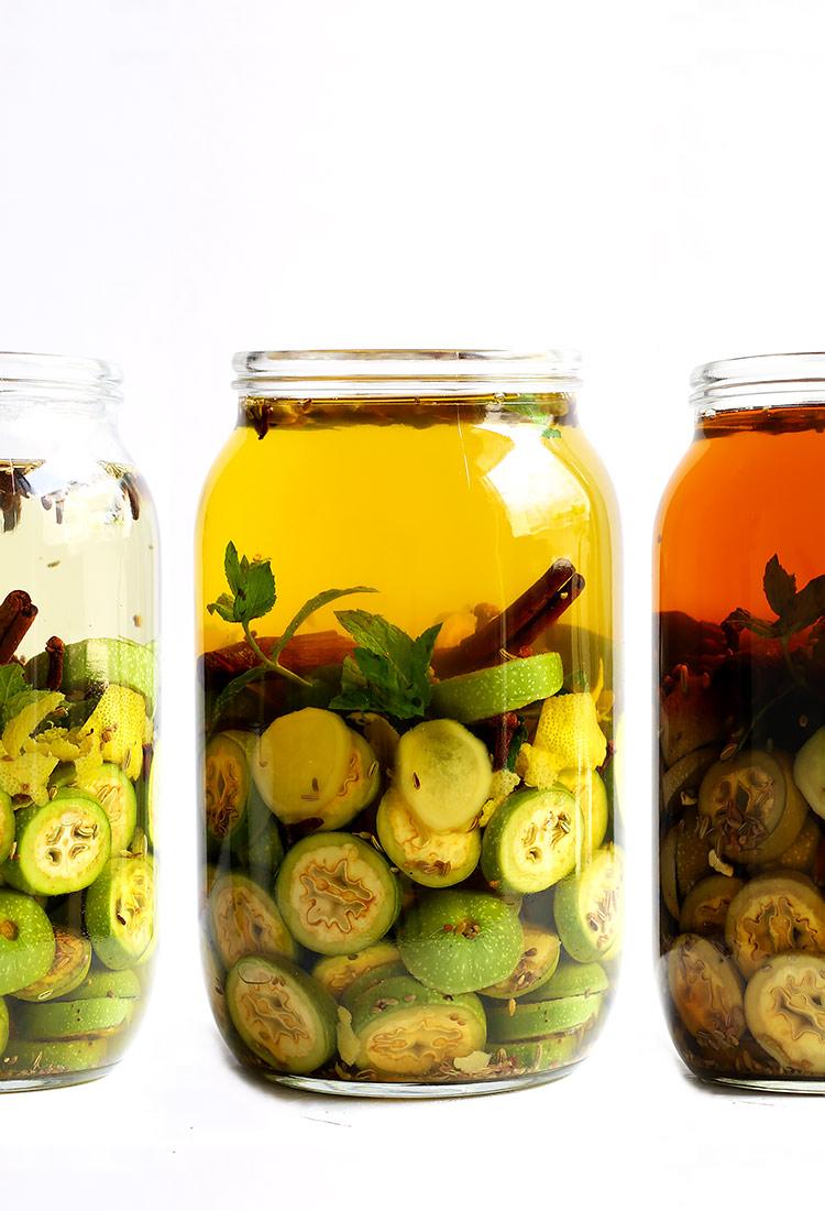 Nussschnaps ansetzen Rezept grüne Nüsse