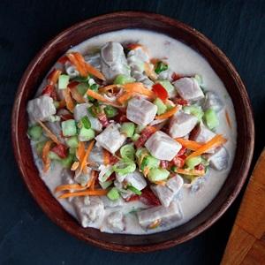 Poisson cru à la tahitienne – Gebeizter Fisch in Limette und Kokos