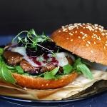 Portobello-Burger mit Brioche Buns