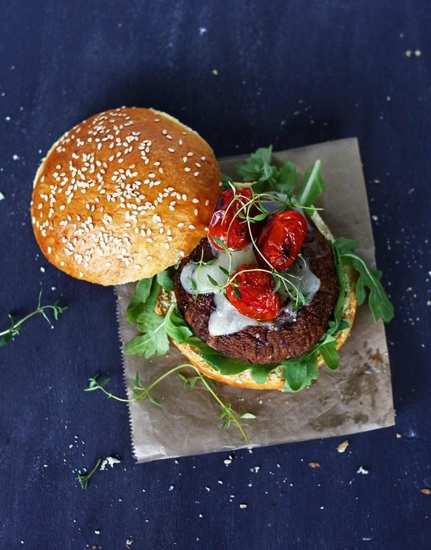 Portobello Burger mit selbstgemachten Brioche-Buns