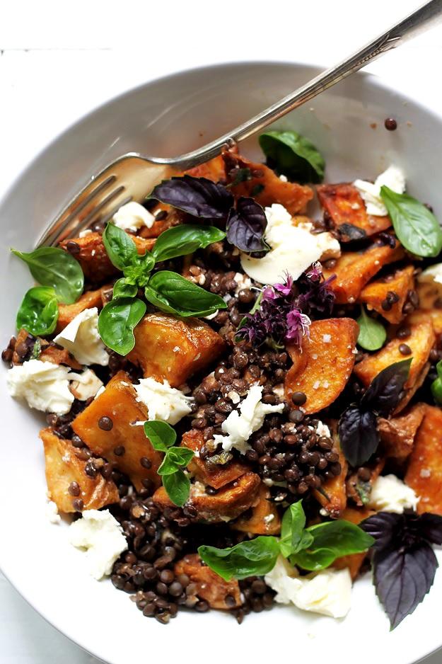 Linsen und Kartoffel Salat Rezept