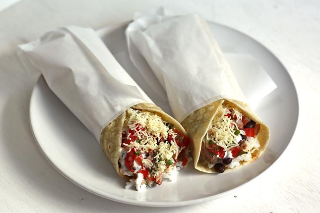 Reis Bohnen Burritos