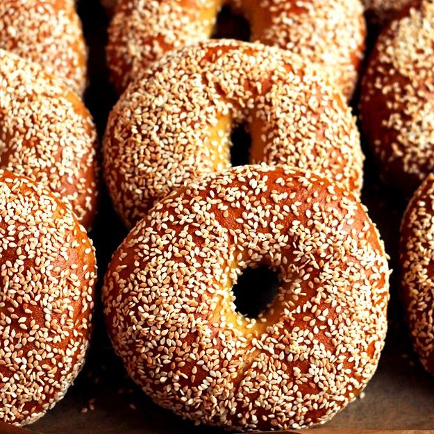 Rezept Bagels mit Sesam
