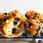 Luftig weiche Blueberry Muffins