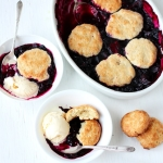 Blueberry-Plum Cobbler
