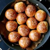 Rezept Brioche Burger Buns Sliders